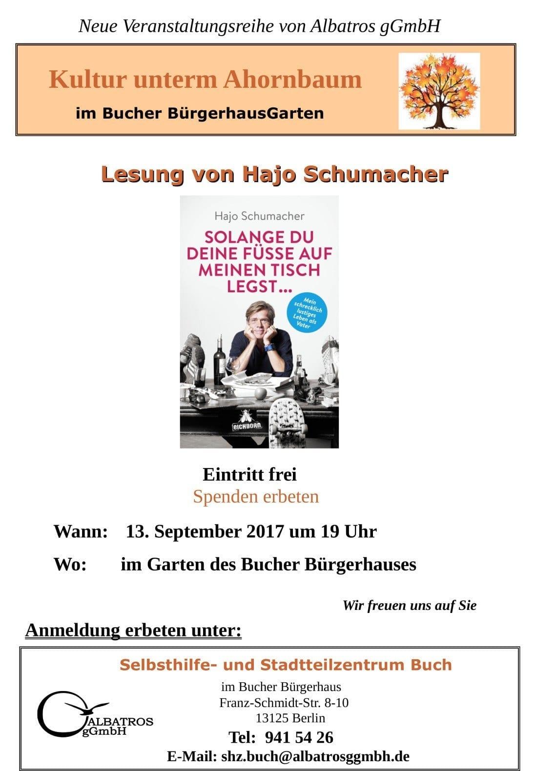 Lesung Hr. Schumacher-KuA